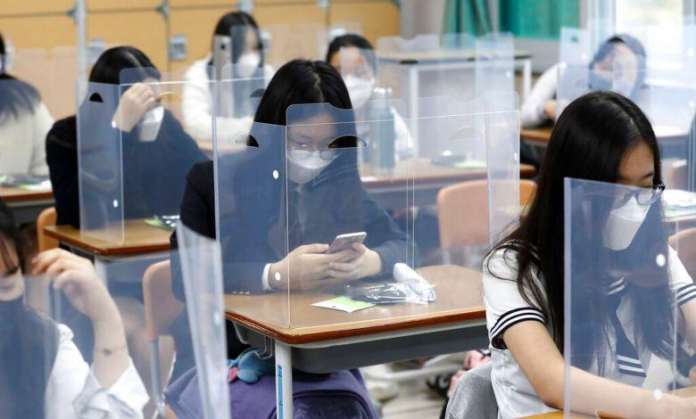 Reanudan clases presenciales en Corea del Sur por caída de contagios de covid-19 1