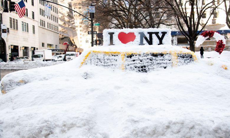 Suspenden vacunación en Nueva York hasta nuevo aviso por intensa nevada 1
