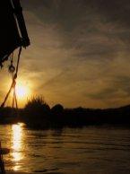 atardecer en el Nilo