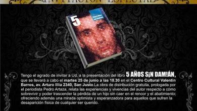 "Photo of San Justo: Mañana se presentará ""5 años s¡n Dam!án"""