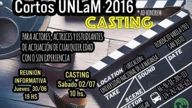 UNLAM Casting: Convocan a actores a participar de cortometrajes