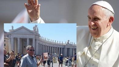 Photo of Saludo tradicional: Diálogo informal de Juan Carlos Alderete con el Papa Francisco