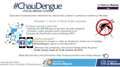 Photo of Estudiantes: Concurso de comunicación y prevención del Dengue, Zika y Chikungunya