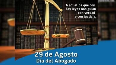 Photo of 29 de Agosto: ¡Feliz Día del Abogado les desea Diario NCO!