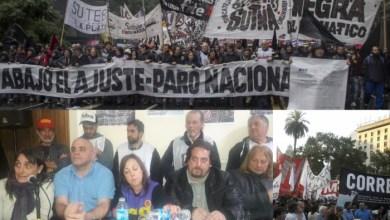 Photo of Contra el ajuste:La izquierda anunció una movilización a Plaza de Mayo