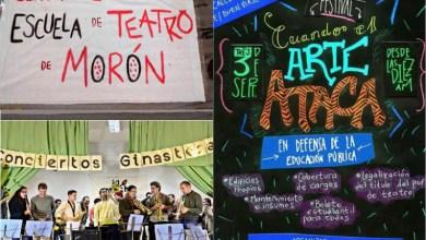 Photo of Morón: Estudiantes de teatro reclaman por sus escuelas con un festival callejero