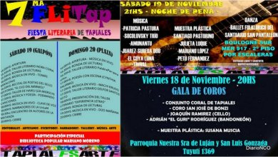 Photo of Tapiales:Llega la Fiesta Literaria al TapialEsArte con gran presencia de escritores locales