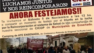 Photo of Ensenada: La Cicop celebrará la reincorporación de trabajadores despedidos en 2014