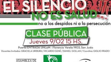 Photo of UNLaM: Invitan a una clase pública de Medicina contra los despidos