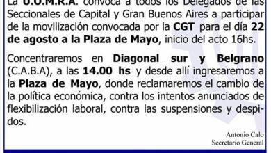 Photo of Convocó la UOM a la Movilización de hoy