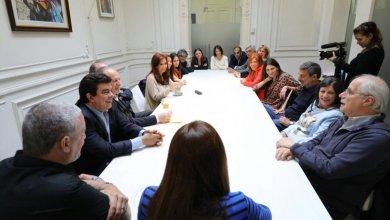 Photo of Cristina junto a Taiana y diputados electos tras la elección legislativa.