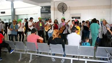 Photo of Estudiantes y profesores de la Escuela Leopoldo Marechal en el Hospital de Niños
