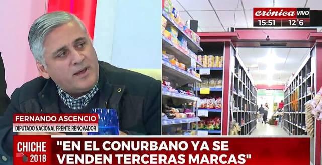 Declaraciones del Diputado del Frente Renovador, Fernando Asencio