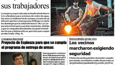 Photo of #BuenJueves Portada impresa de Diario NCO del 12-07-2018