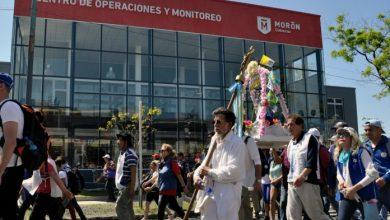 Photo of El Gobierno de Morón acompañó la peregrinación a Luján con puestos de salud y seguridad