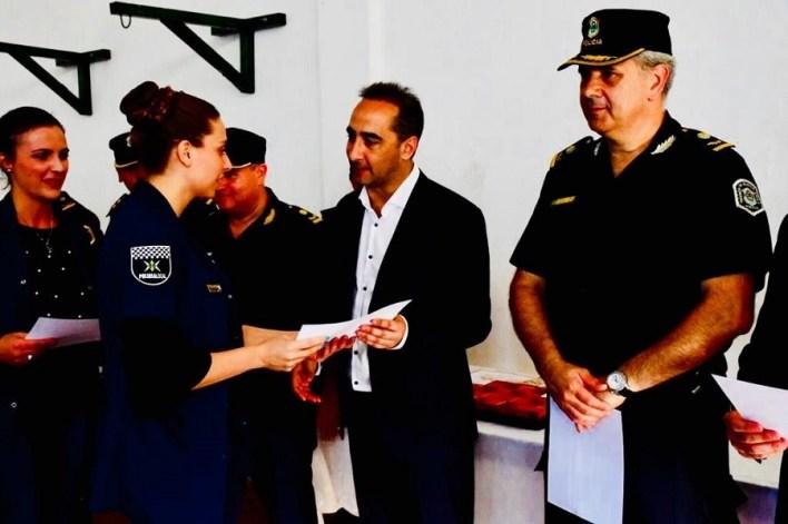 Tagliaferro destacó por su labor a más de 70 efectivos de la Policía Local