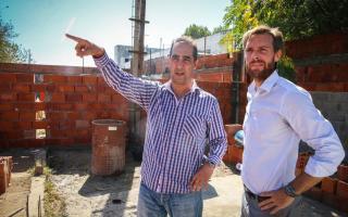 Tagliaferro recorrió la ampliación del Jardín Nº 934 en Morón