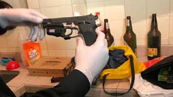 El arma secuestrada