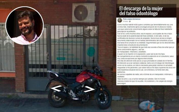 Falso odontólogo de La Plata: fuerte descargo de la ex esposa y nueva denuncia en su contra
