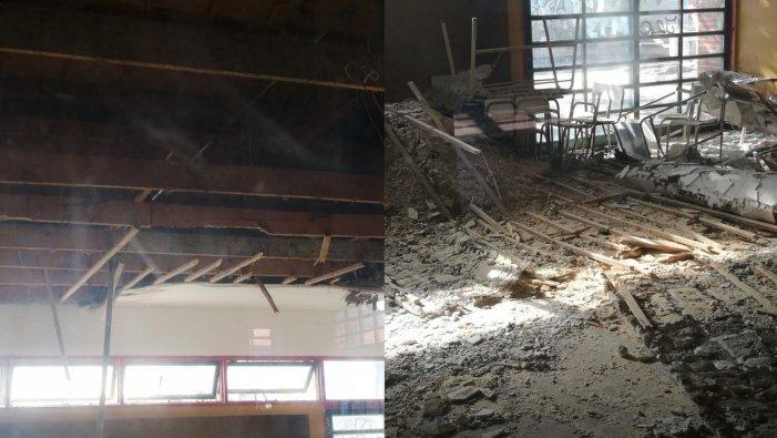 La Plata: se desplomó el techo de un aula minutos después de ser evacuada en plena clase