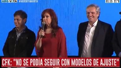 "Photo of Cristina Fernández: ""Esto va a requerir de un esfuerzo inimaginable"""