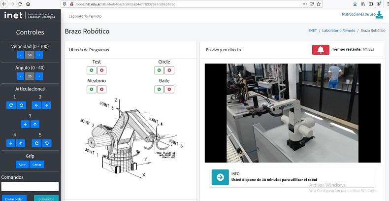 Controlá un brazo robótico a través de la web