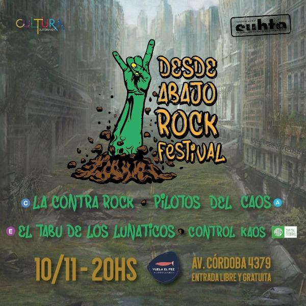 Rock en CABA: Trabajadores del subte y otros gremios organizaron el primer festival de rock libre y gratuito