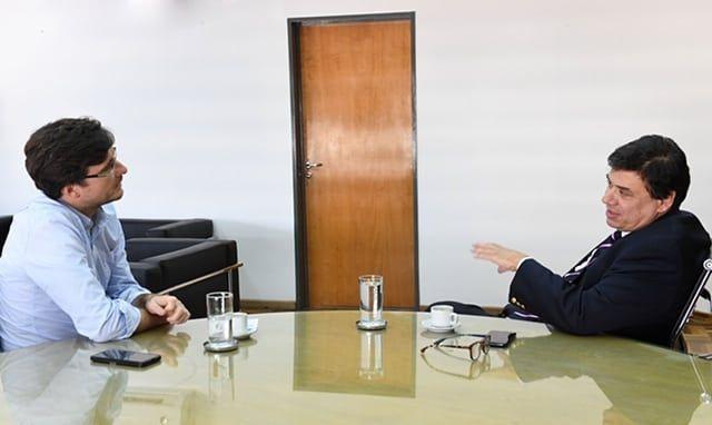 Lucas Ghi mantuvo un encuentro con el Ministro de Trabajo, Claudio Moroni