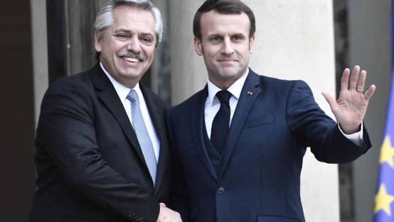 Apoyo de Emmanuel Macron a Alberto Fernández