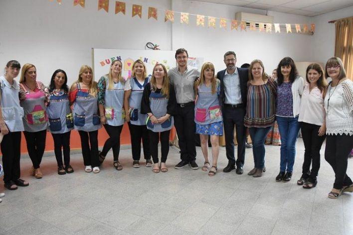 Ghi compartió el inicio de clases del Jardín Maternal Nº 15