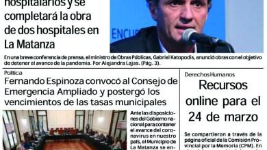 Photo of #Buen Viernes Leé la edición impresa de Diario NCO del 20-03-2020