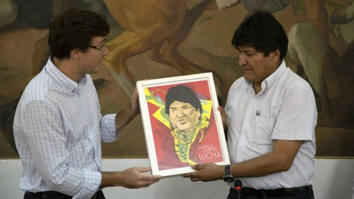 Evo Morales fue distinguido como visitante ilustre en Morón