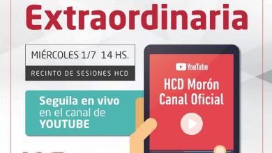 Photo of Sesión Extraordinaria semipresencial – HCD Morón