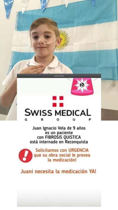 ¡Juan Ignacio necesita su medicación urgente!
