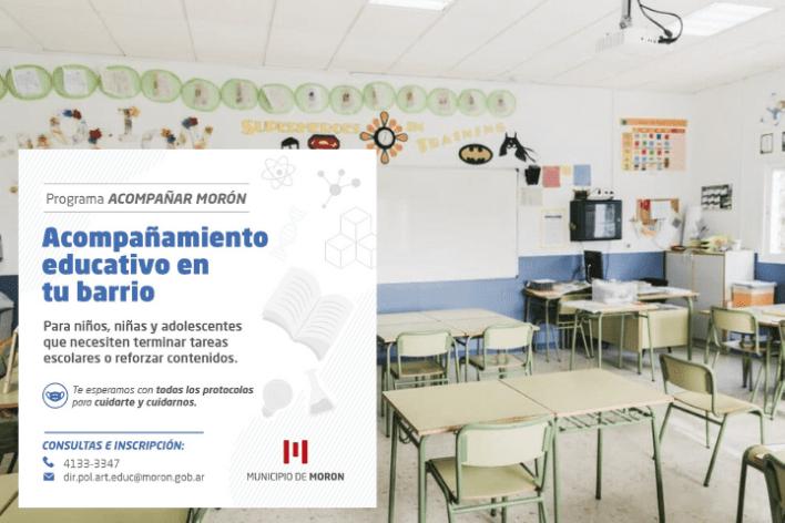 """Educación: Se lanzó el """"Programa Acompañar Morón"""" en el distrito"""