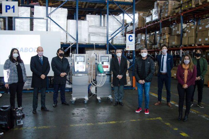 Desarrollo Productivo entregó dos respiradores en Hurlingham
