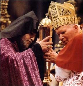 Juan Pablo II y Karekin