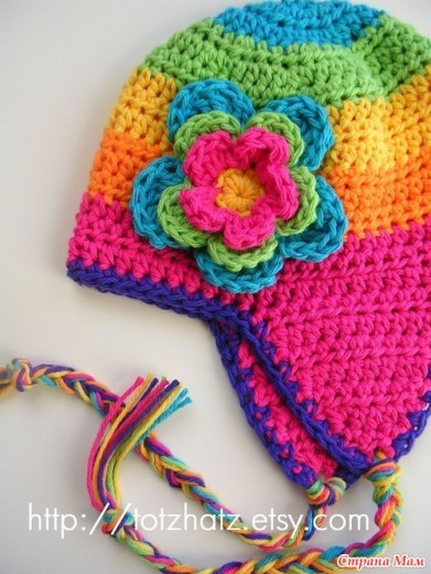 patrones crochet, gorros con orejeras para niños y bebés 10