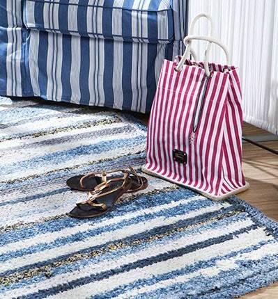 Ideas para reciclar vaqueros: alfombras