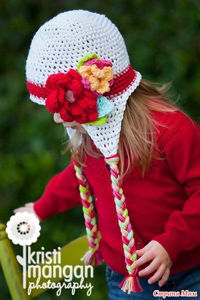 patrones crochet, gorros con orejeras para niños y bebés 1