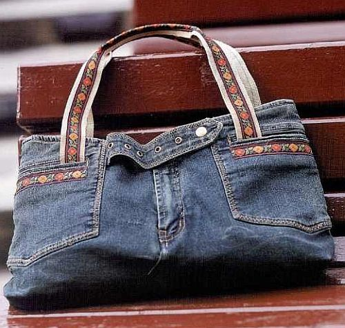 Ideas para reciclar vaqueros bolso de mano