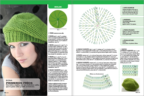 Patrones de boinas modelo verde