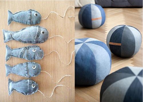 Ideas para reciclar vaqueros juguetes para niños con materiales reciclados