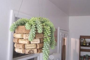Ideas para reciclar corchos maceta