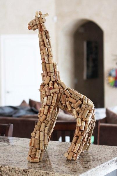 Ideas para reciclar corchos jirafa