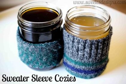 Cobertores de tejidos reciclados para frascos