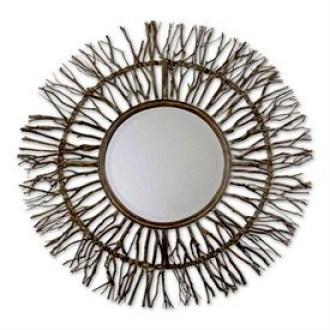 Marco de espejo hecho con ramas