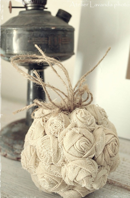 Flores de arpillera ramo de novia modelo esfera