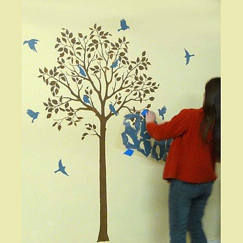 Stencil m todos y plantillas para decorar paredes - Plantillas para pintar paredes ikea ...