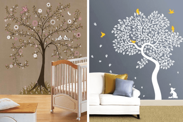 Decorar paredes con estarcido ideas y plantillas para for Como decorar una pared con pintura